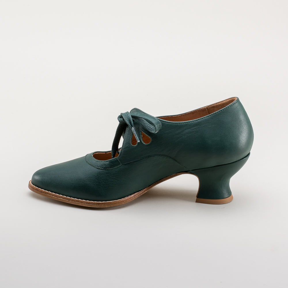 PRE-ORDER Gibson Edwardian Leather Shoes (Green)(1900-1925)