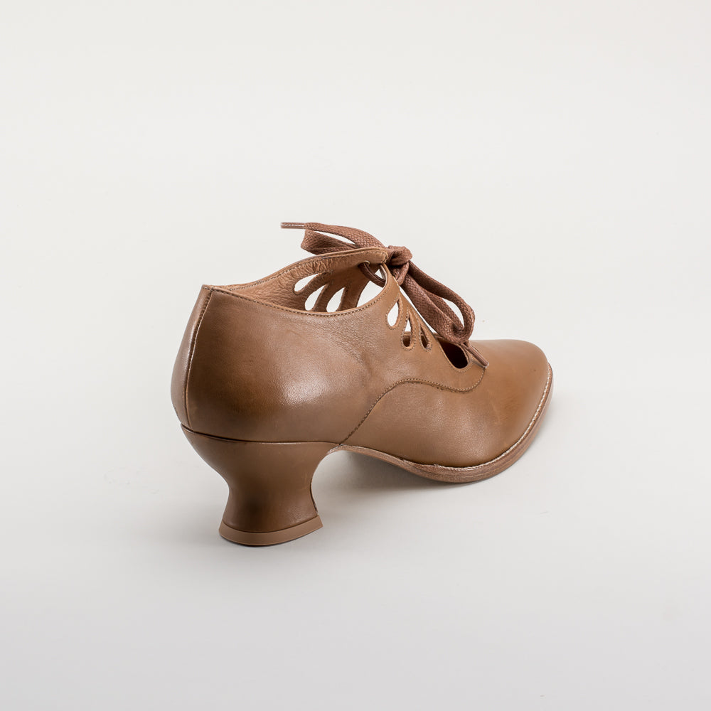 PRE-ORDER Gibson Edwardian Leather Shoes (Tan)(1900-1925)
