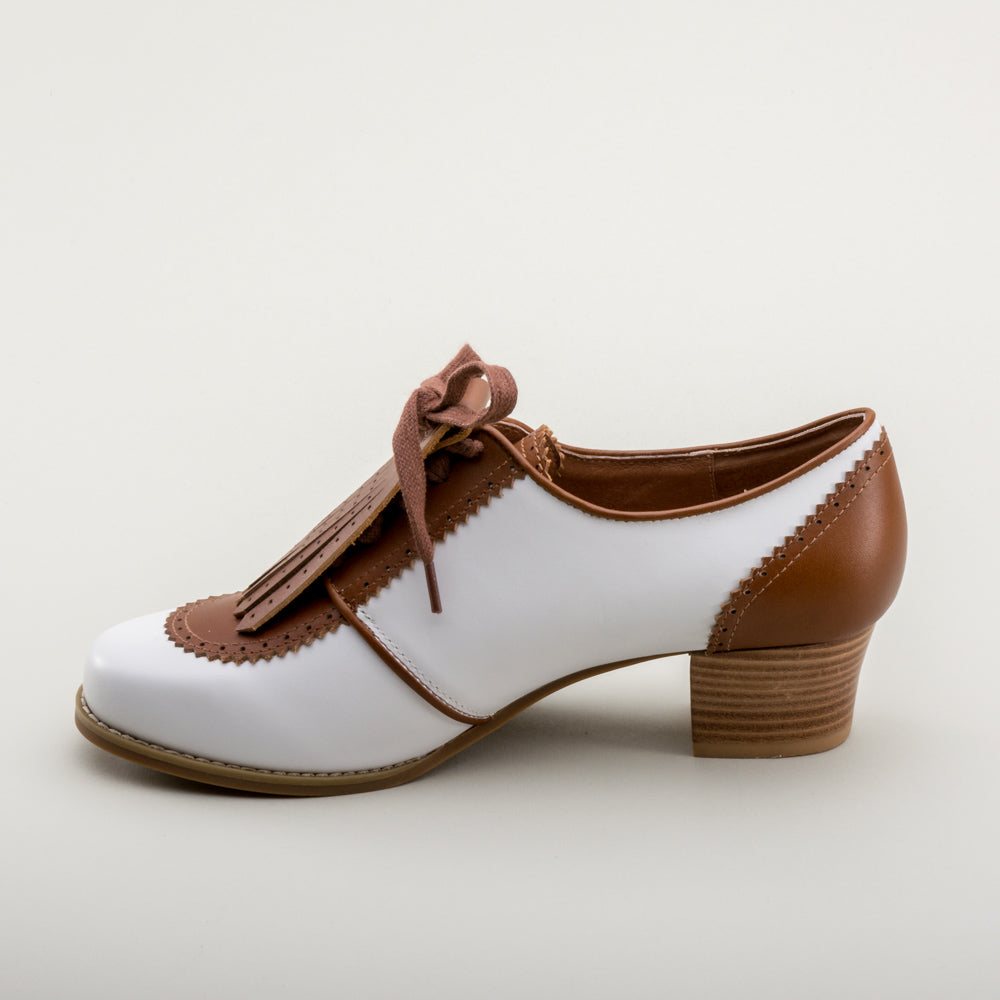 Hepburn 1940s Spectator Oxfords (Brown/White)