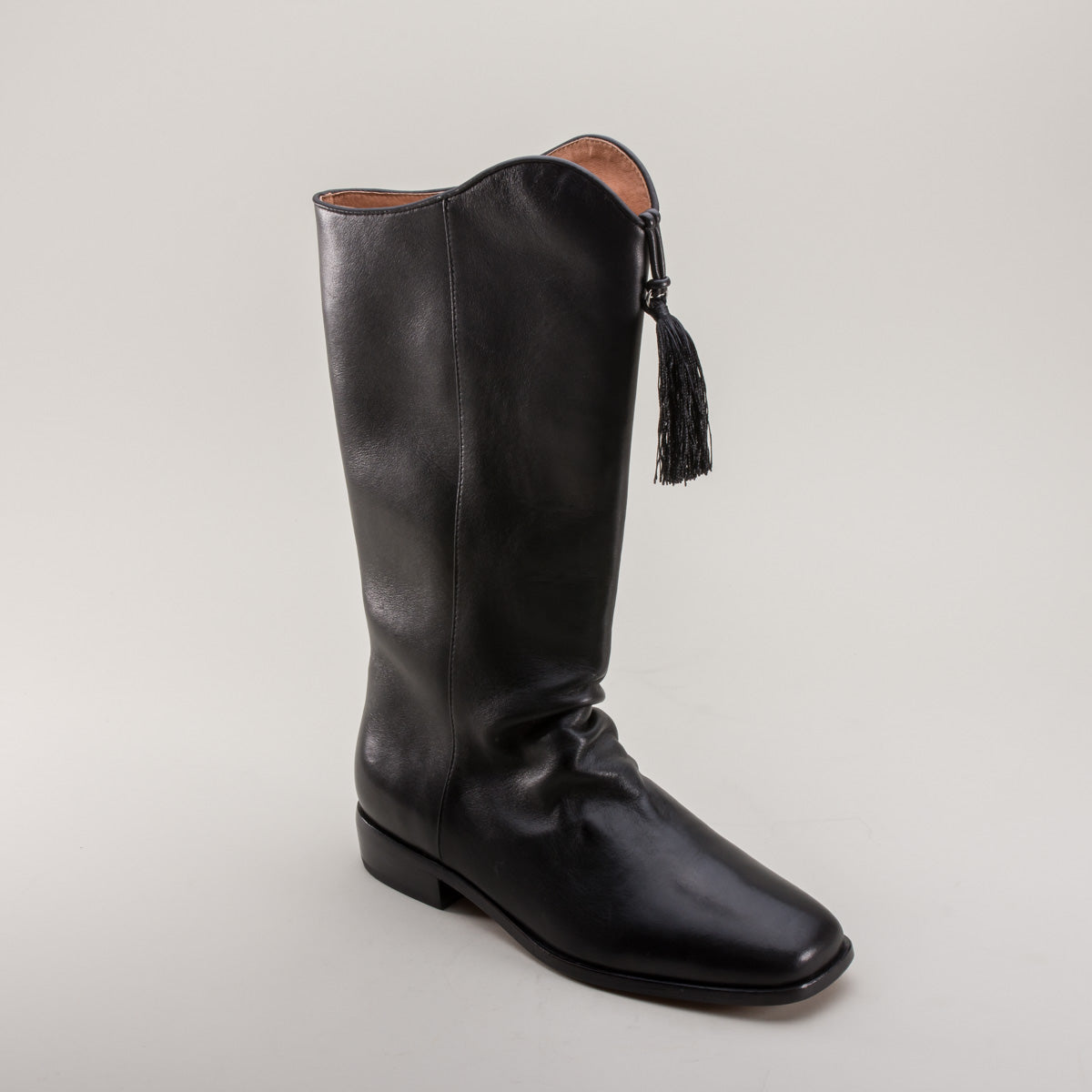 Hessian Men's Georgian Boots (Black) (1790 - 1830)
