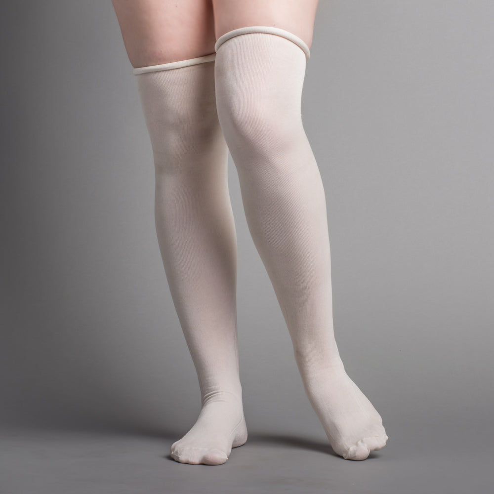 Silk Stockings (Ivory, Clocked)