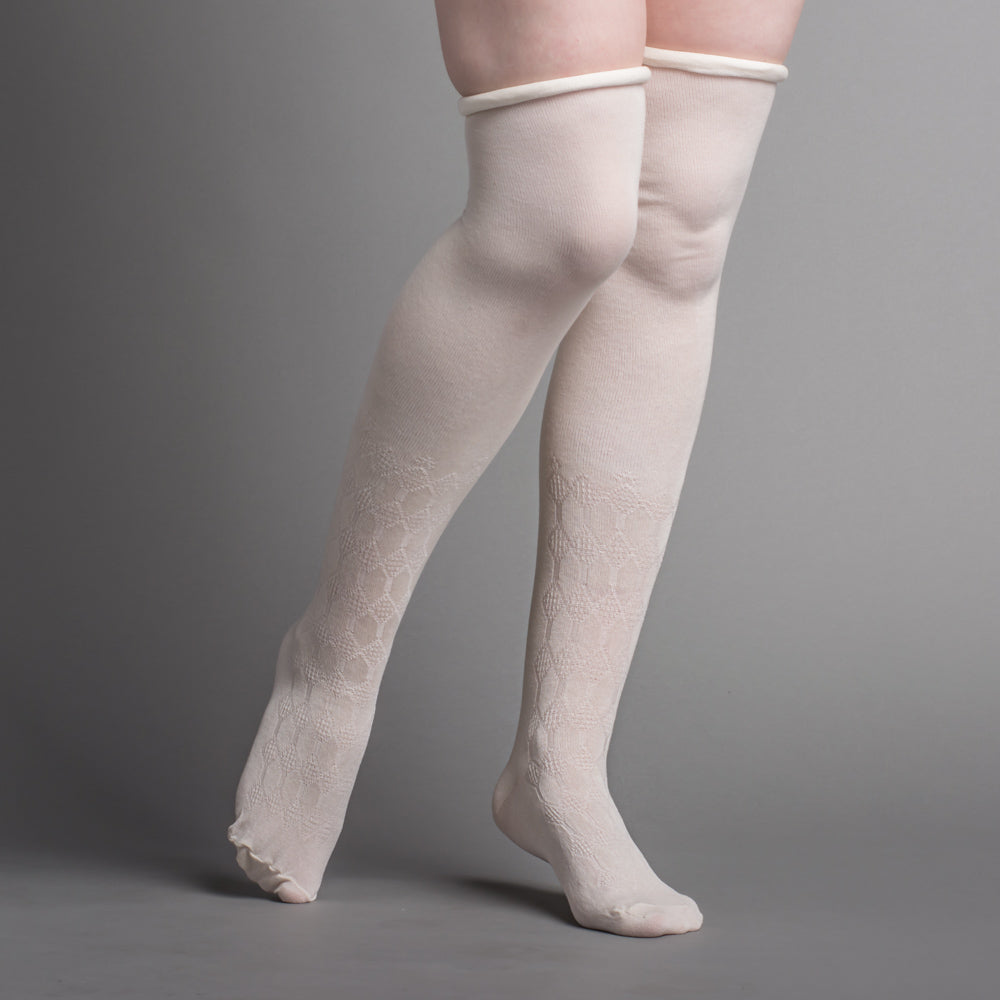 Silk Stockings (Ivory, Openwork)