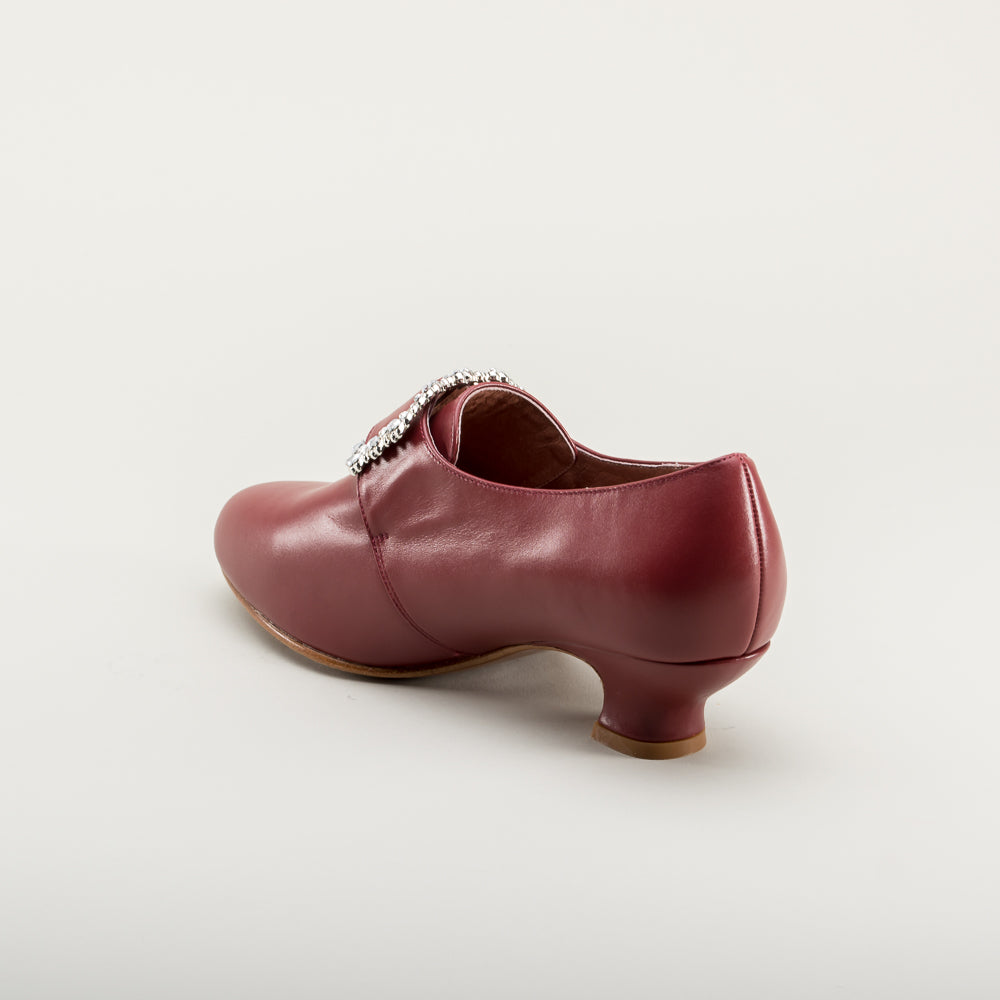 PRE-ORDER Kensington 18th Century Leather Shoes (Oxblood)(1760-1790)