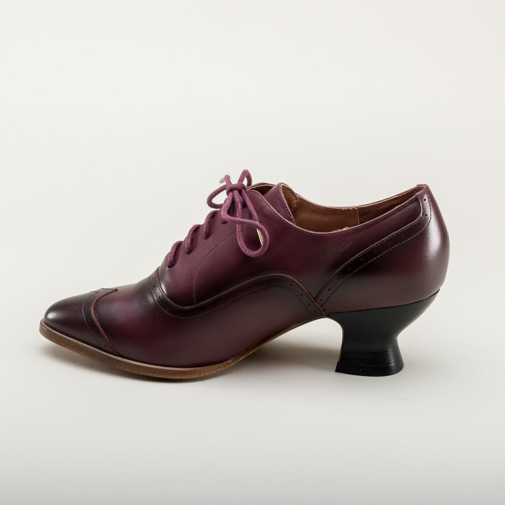 PRE-ORDER Londoner Edwardian Oxfords (Cherry)(1900-1925)