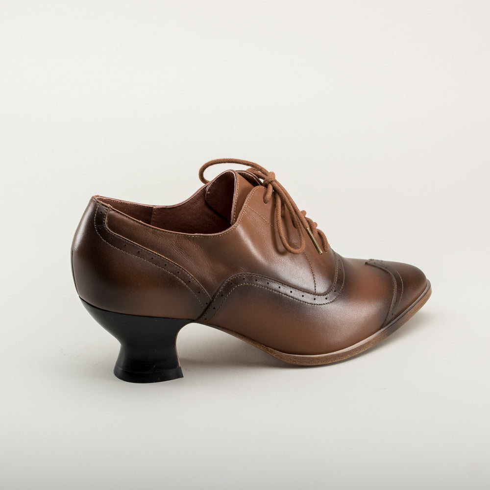 PRE-ORDER Londoner Edwardian Oxfords (Tan)(1900-1925)