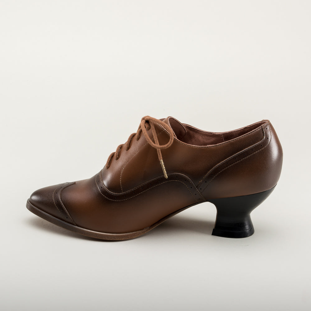 Londoner Edwardian Oxfords (Tan)(1900-1925)
