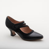 PRE-ORDER Mae Edwardian Shoes (Black)(1900-1925)