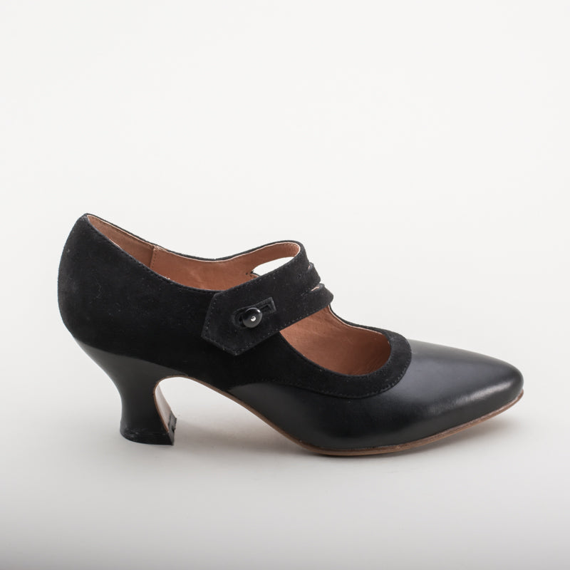 Mae Edwardian Shoes (Black)(1900-1925)