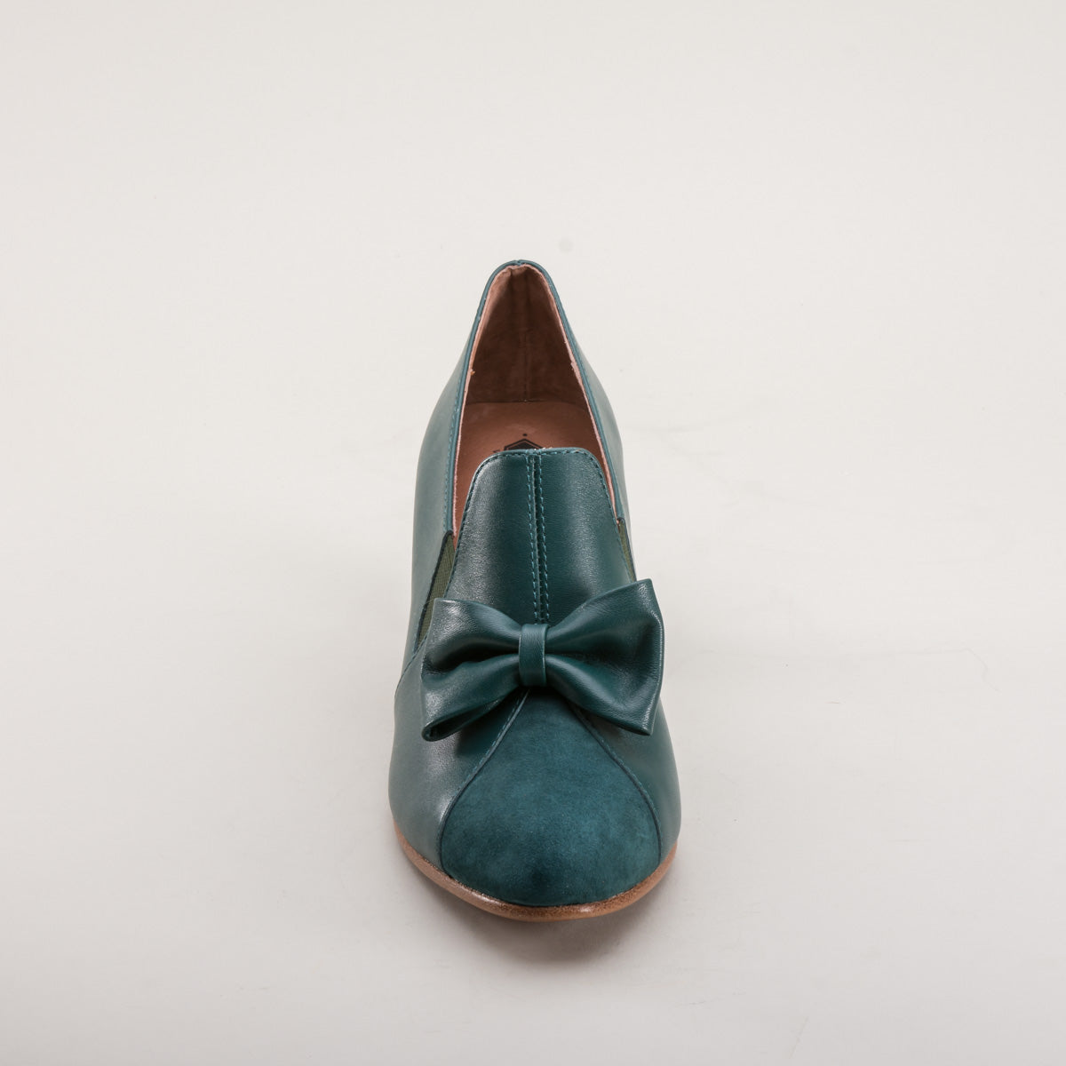 Maria Retro Bow Pumps (Green)