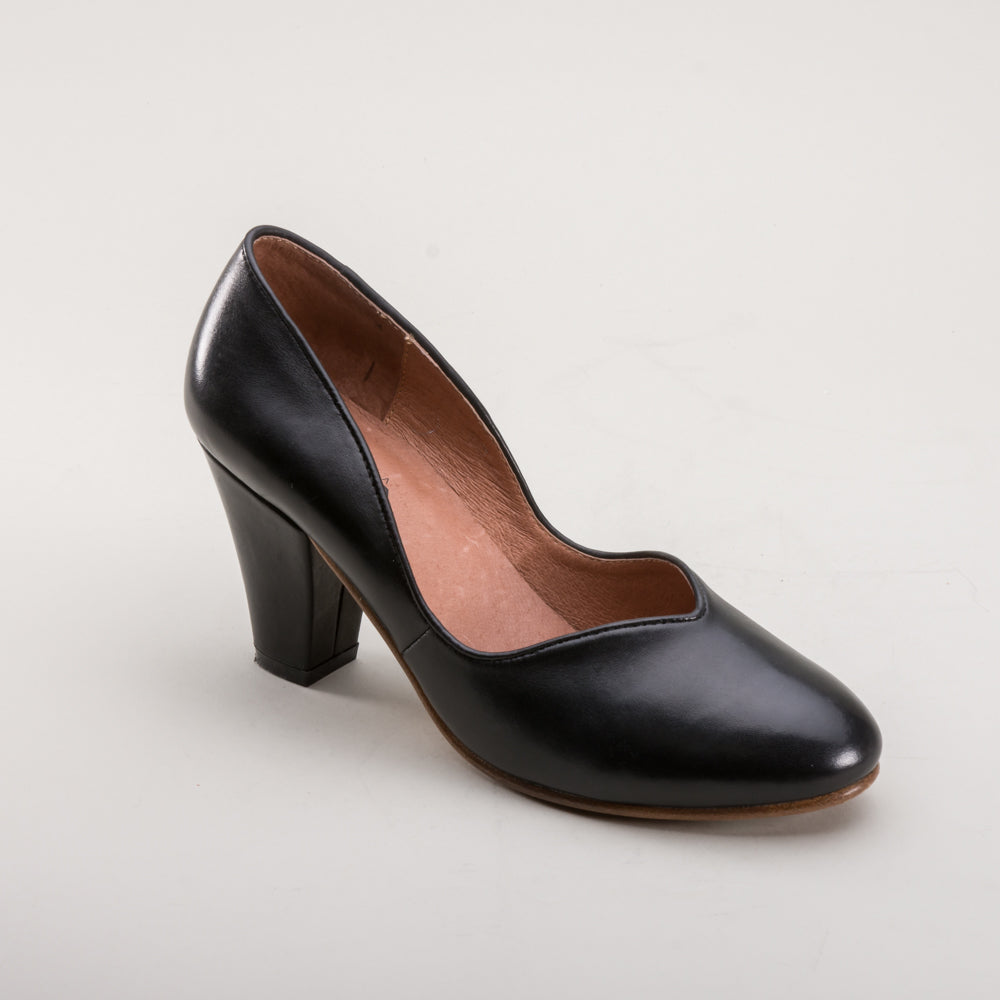 Marilyn 1940s Pumps (Black)