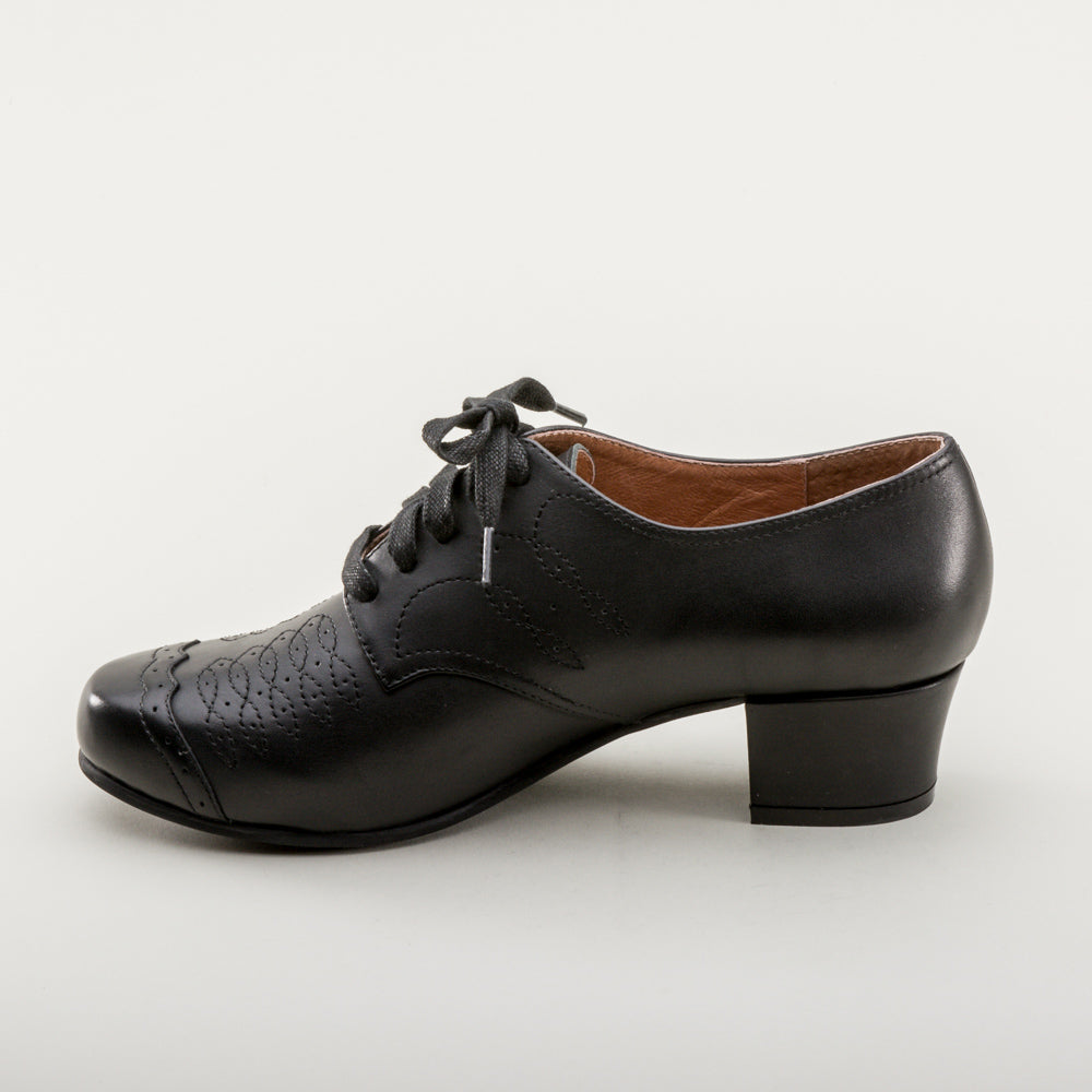 Ruth 1940s Oxfords (Black)