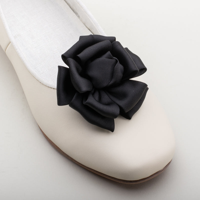 Small Satin Rose Shoe Clips
