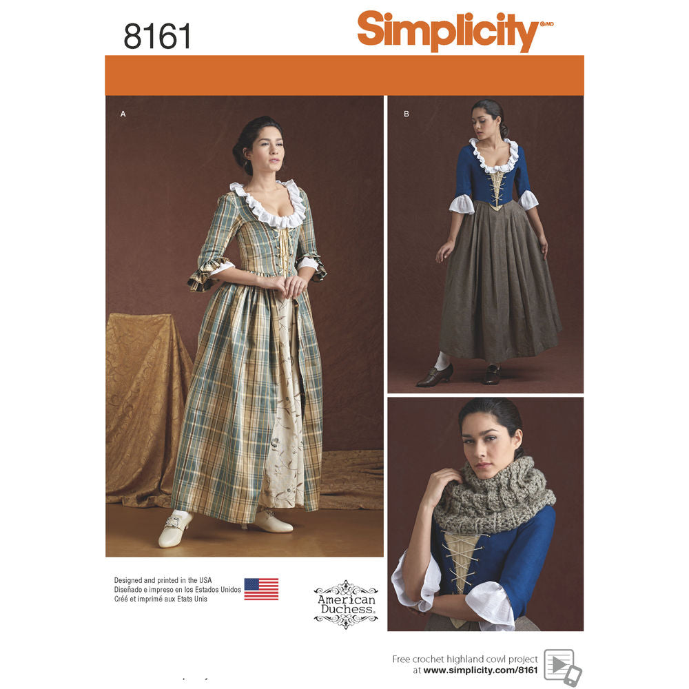 Simplicity 8161 18th Century Costume Pattern