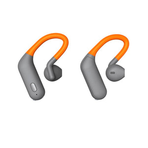 Thomson WEAR8500BT True-Wireless-sport-koptelefoon,oorbeugel,microfoon,grijs/oranje