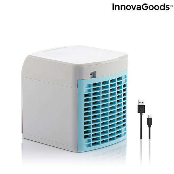 Draagbare mini-verdampingsairconditioner met LED-licht Freezyq+ InnovaGoods