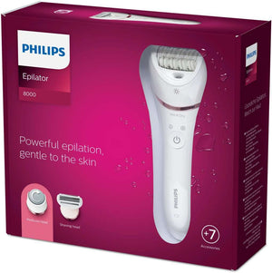 Philips BRE730/00 Series 8000 Wet and Dry Epileerapparaat Roze/Wit