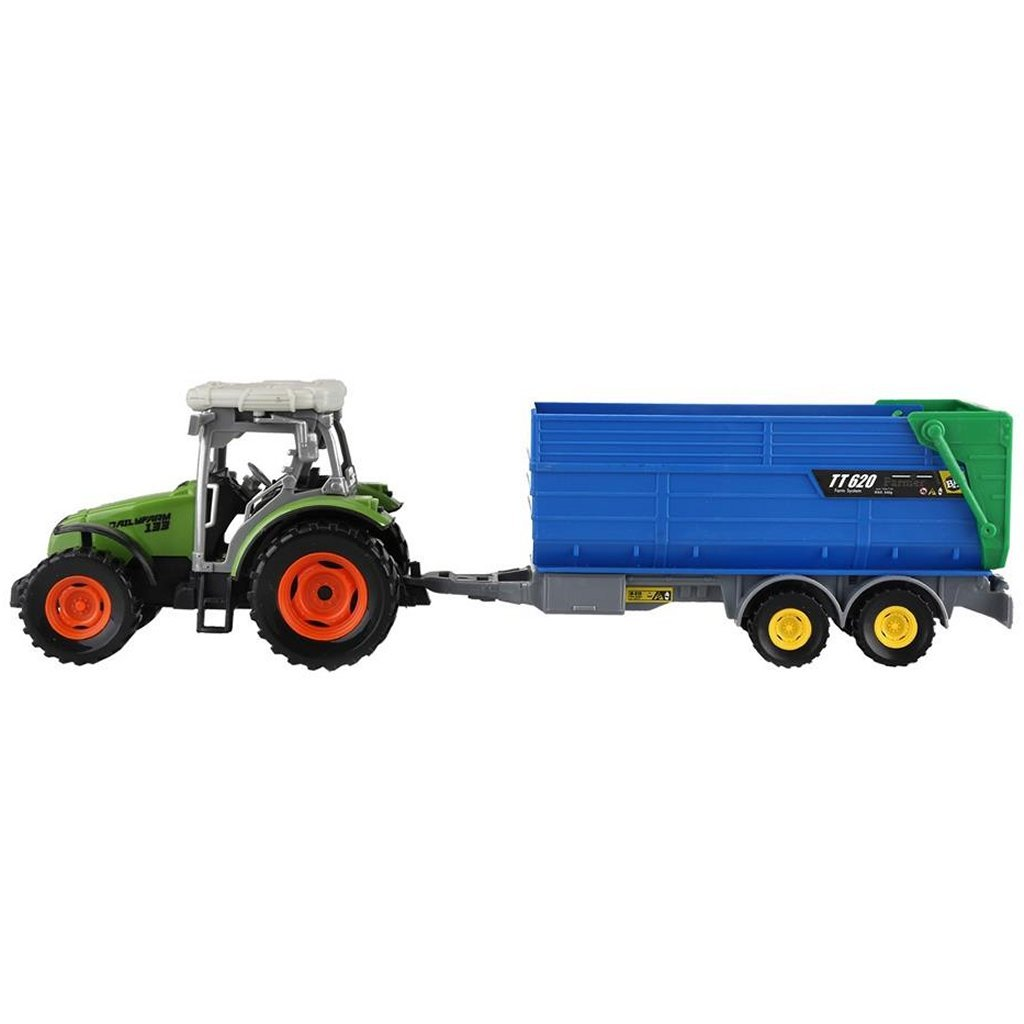 Dutch Farm Tractor met Trailer 1:32
