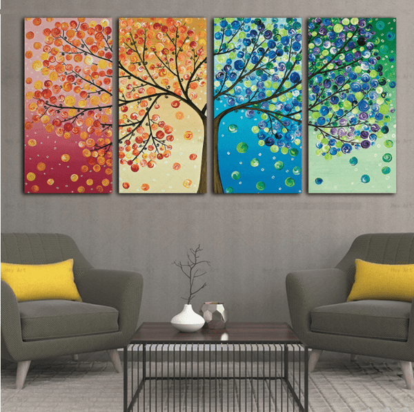 Tree of Life Abstract Canvas