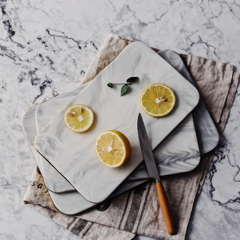 Marble and Gold Dinner Board