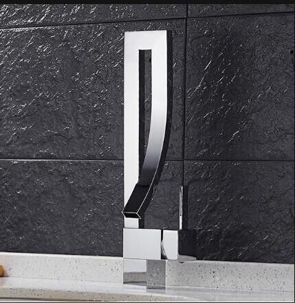 Contemporary Single Handle Square Faucet