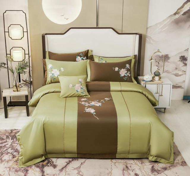 Spring Classic Luxury Egyptian Duvet Cover Set