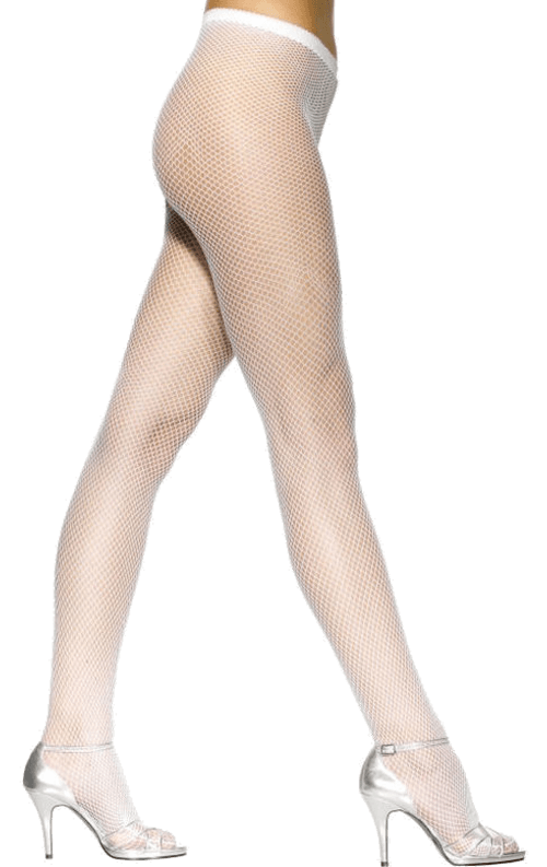 Womens White Fishnet Tights