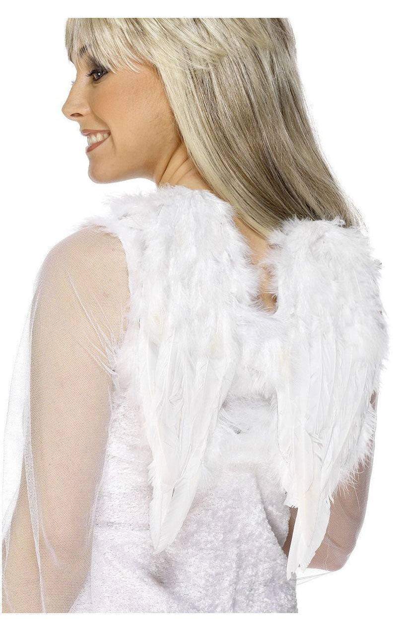 Large White Angel Wings