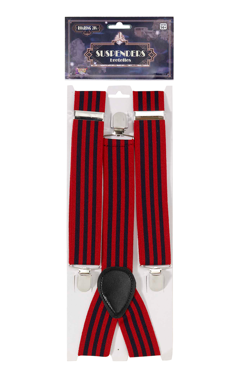 Adult Striped Trouser Braces