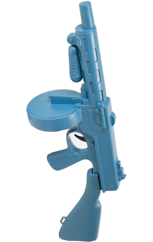 Blue Tommy Gun Toy