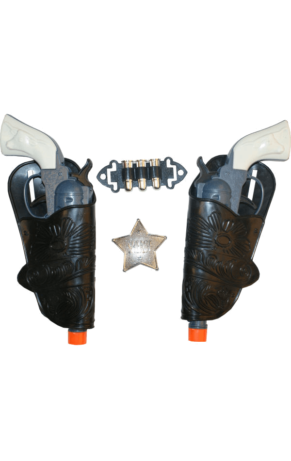 Cowboy Guns and Holsters Kit