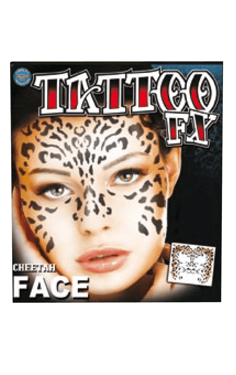 Cheetah Face Tattoo