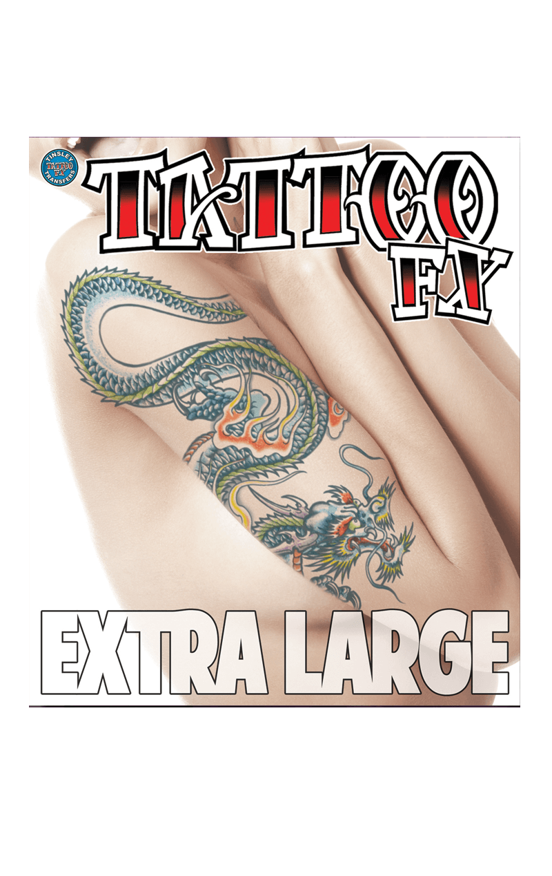 XL Dragon Temporary Tattoo
