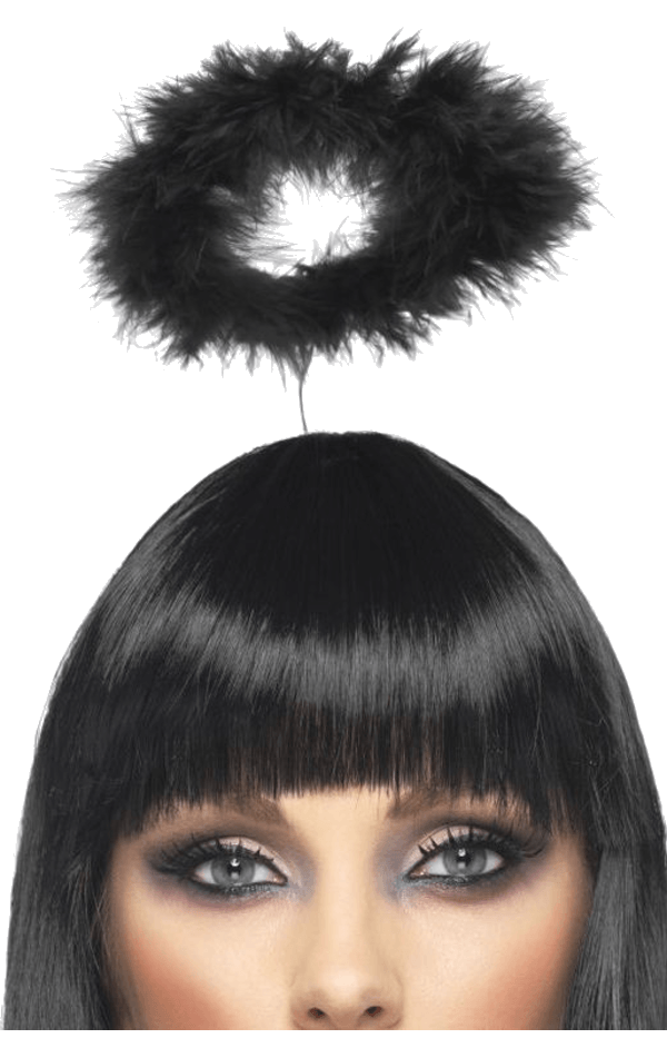 Black Angel Halo Halloween Accessory