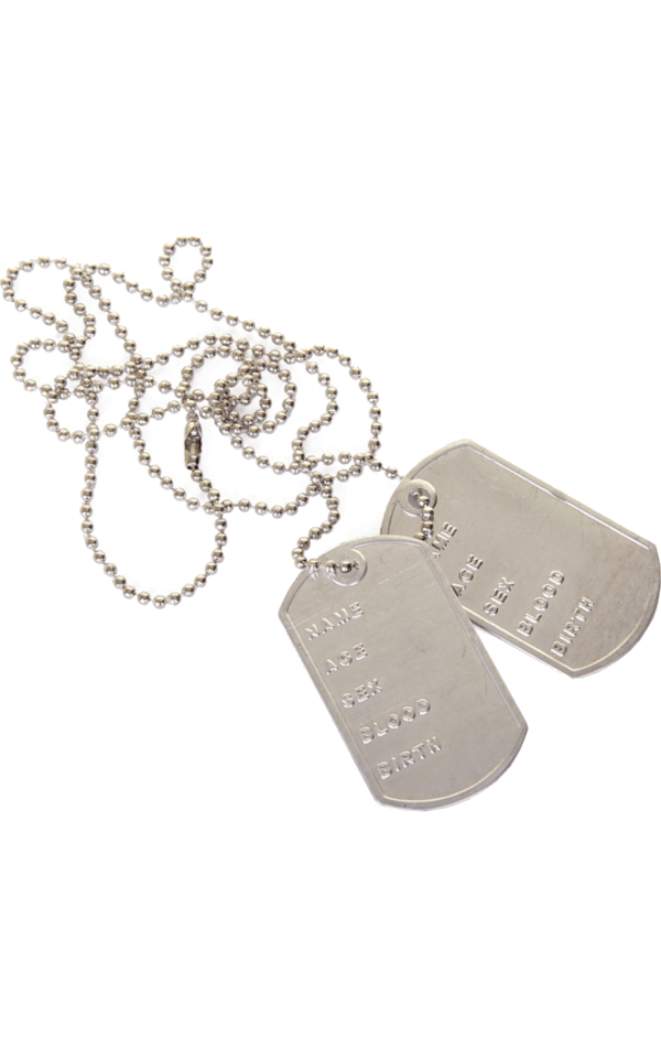Silver Army Dog Tag Necklace