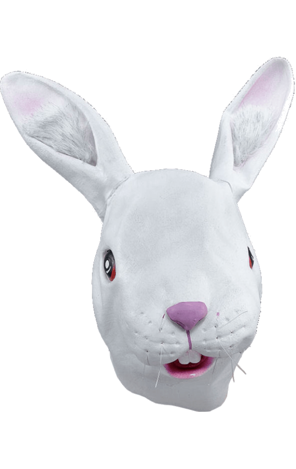 Adult White Rabbit Facepiece Accessory