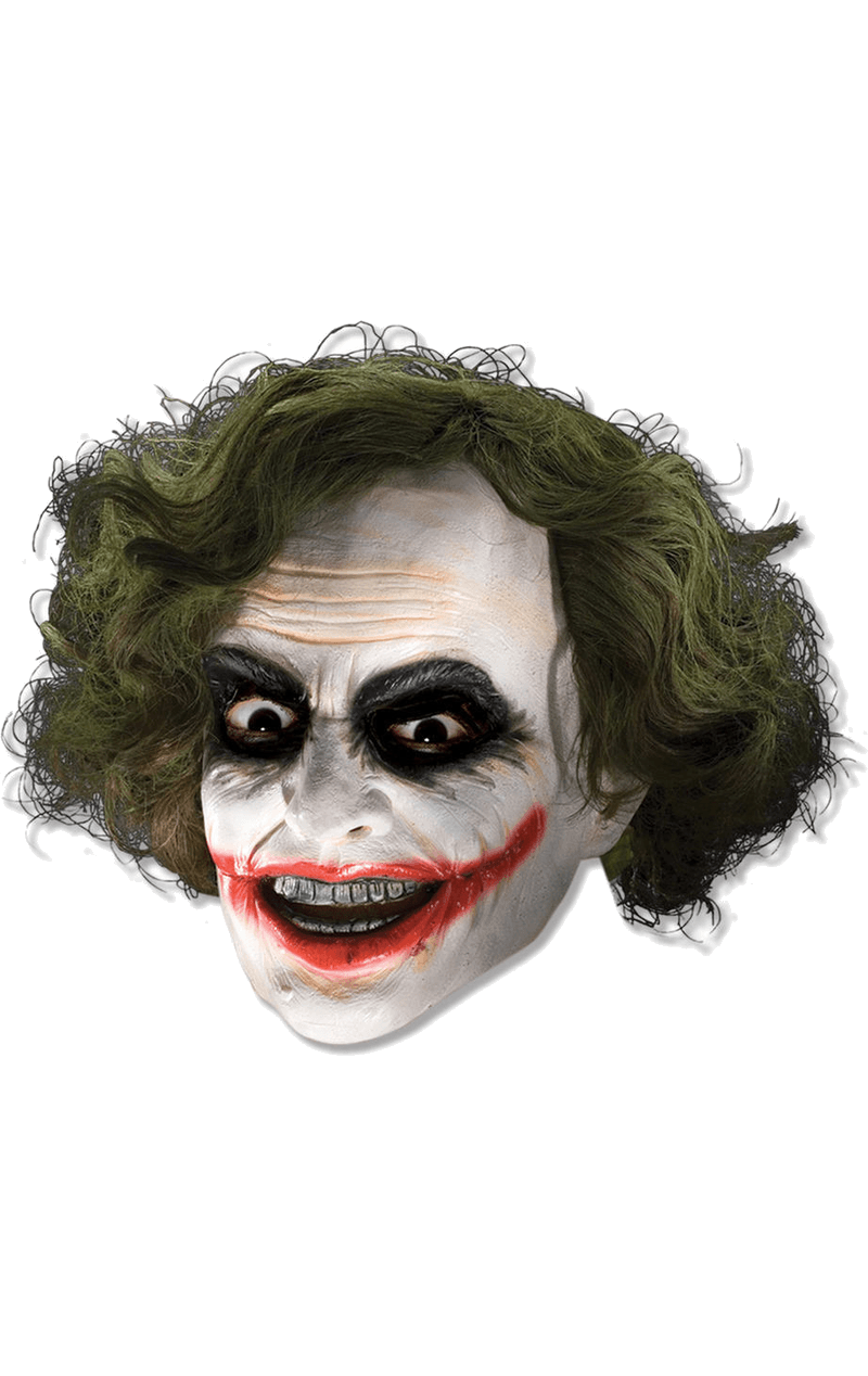 Adult The Joker Facepiece with Hair Accessory