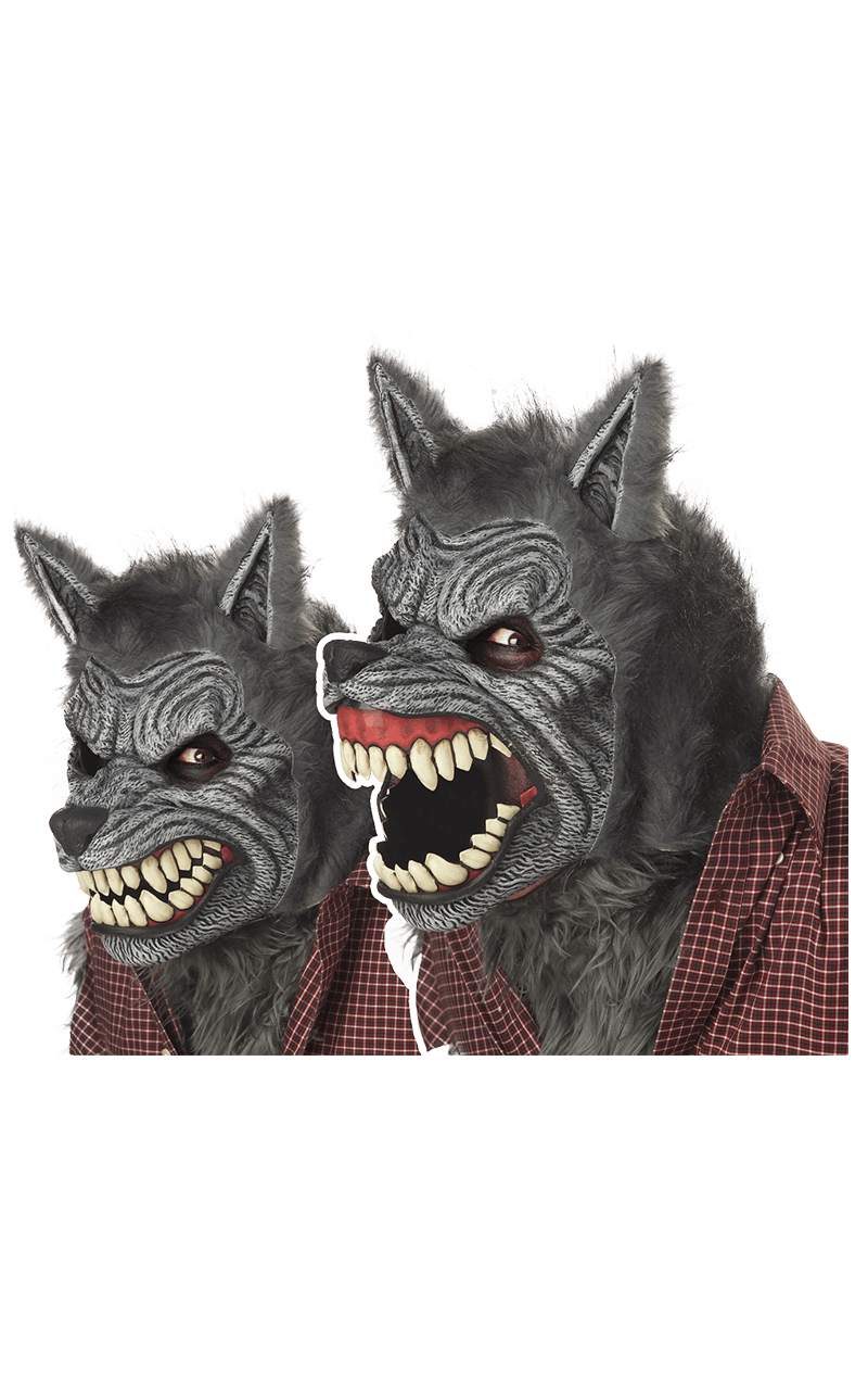 Grey Werewolf Ani-Motion Facepiece