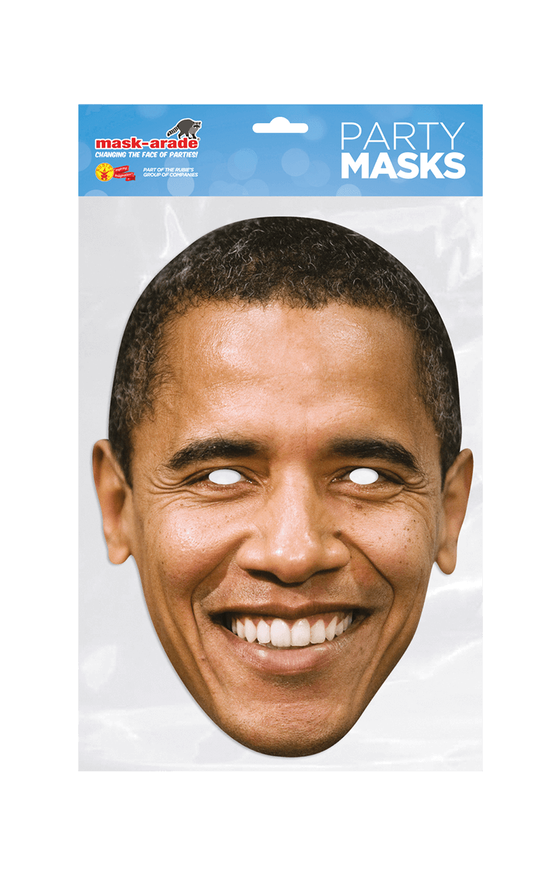 President Barack Obama Cutout Facepiece