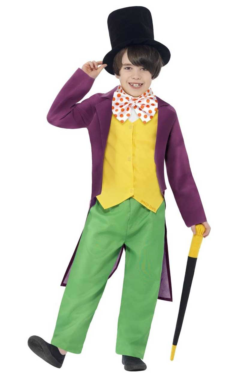 Boys Roald Dahl Willy Wonka Costume
