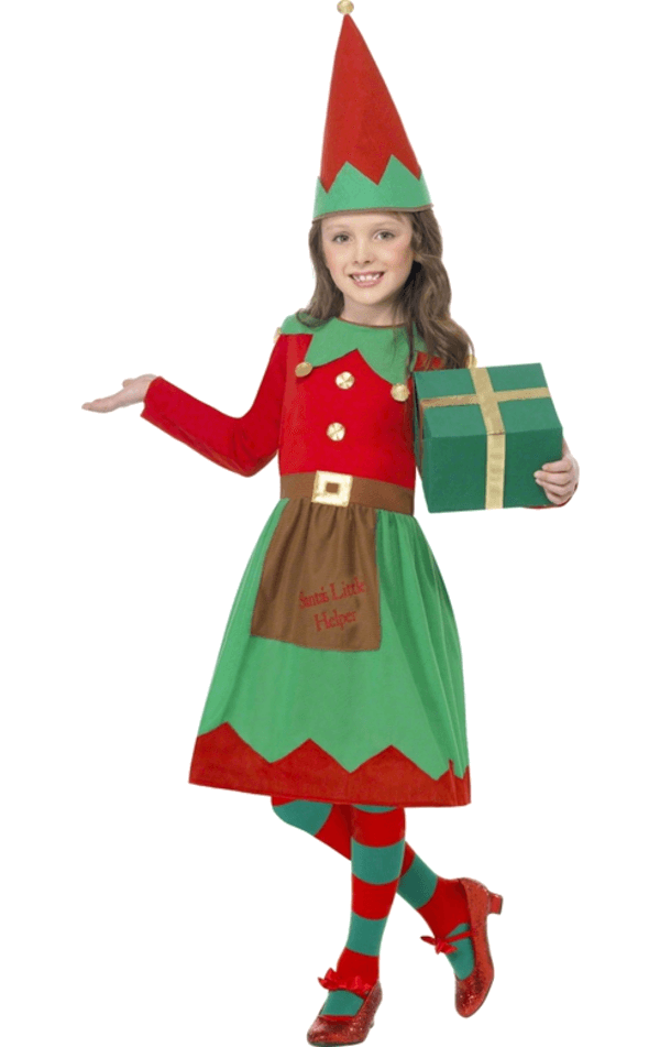 Kids Elf Girl Christmas Costume