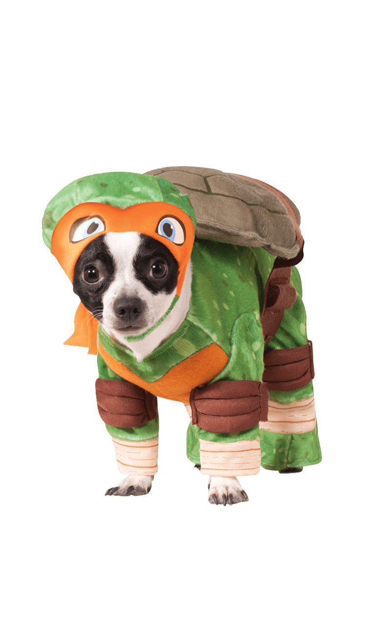 Michelangelo Ninja Turtles Dog Costume