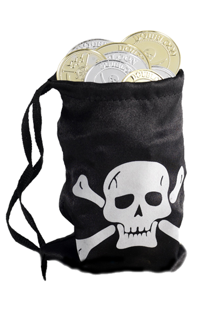 Pirate Bag and Coins