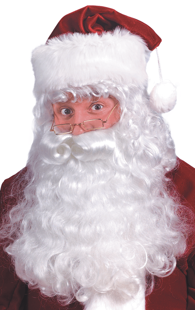 Curly Santa Beard and Wig Set