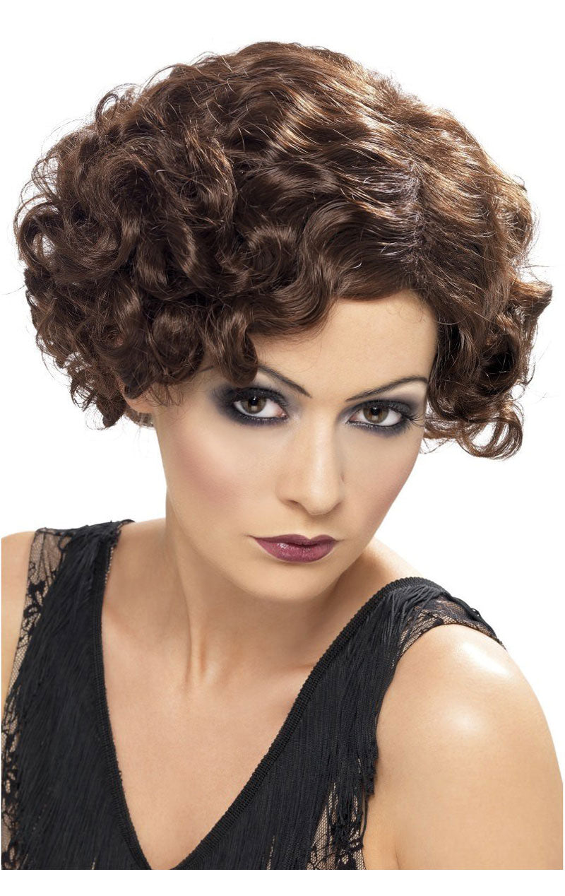 Brown 20s Flirty Flapper Wig