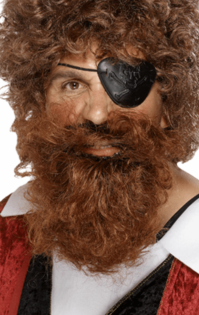 Pirate Brown Beard Accessory