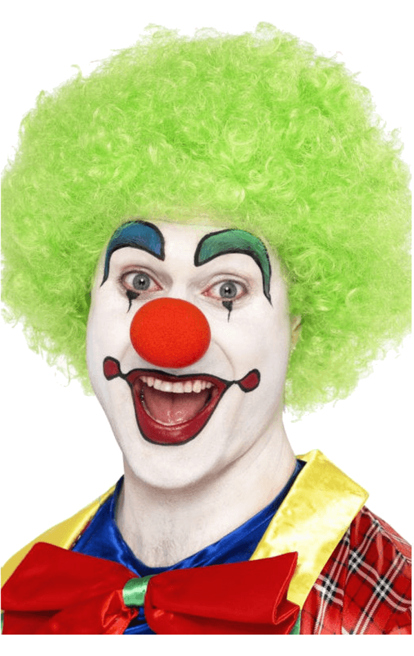 Economy Clown Wig in GREEN