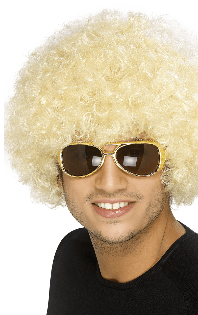 Light Blonde Afro Wig Accessory