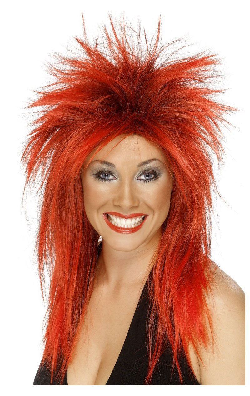 Red and Black Tina Turner Wig