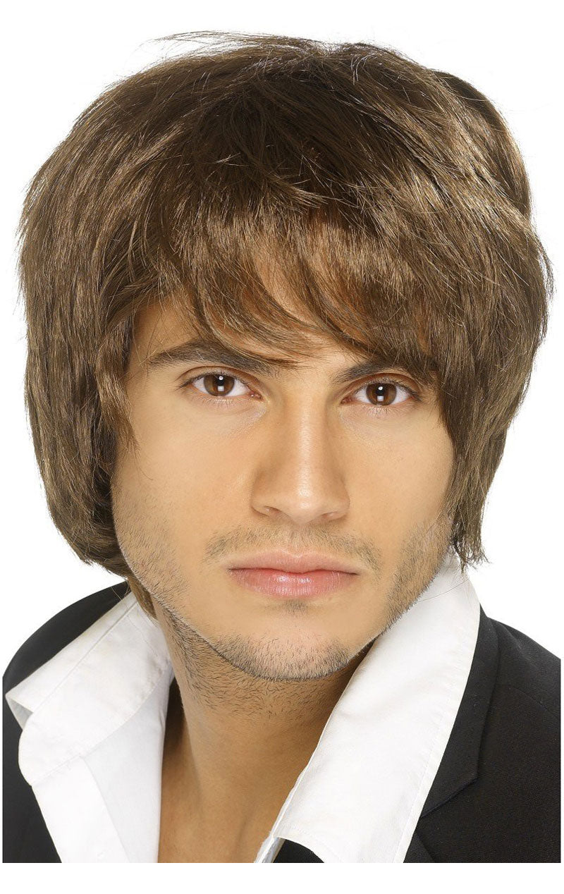 Boy Band Wig (Brown)