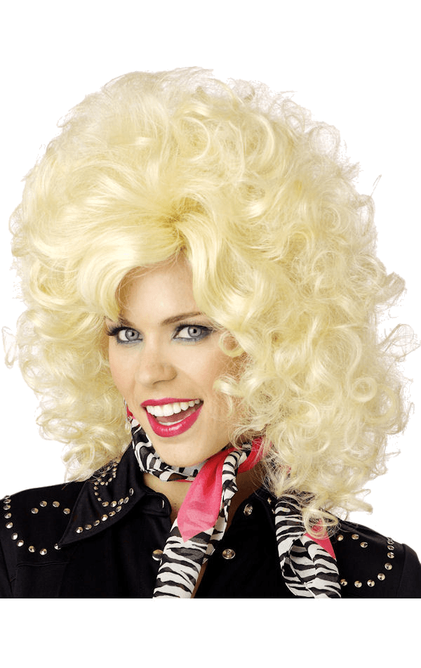 Dolly Parton Curly Blonde Wig